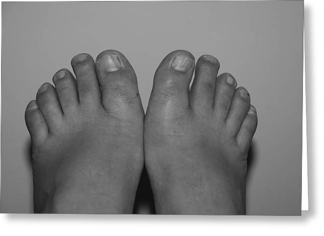 Greeting Card featuring the photograph My Feet By Hans by Rob Hans