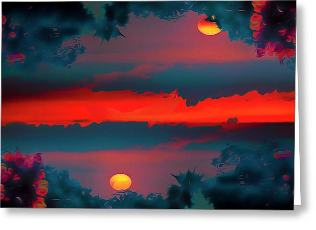 Greeting Card featuring the photograph My First Sunset- by JD Mims