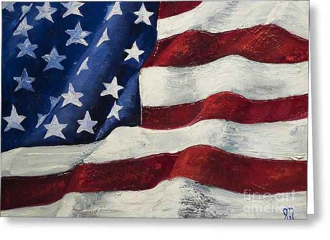 My Flag Greeting Card by Jodi Monahan