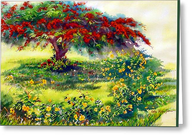My Flamboyant Tree Greeting Card by Estela Robles