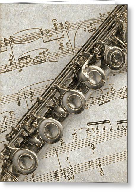 My Flute Photo Sketch Greeting Card