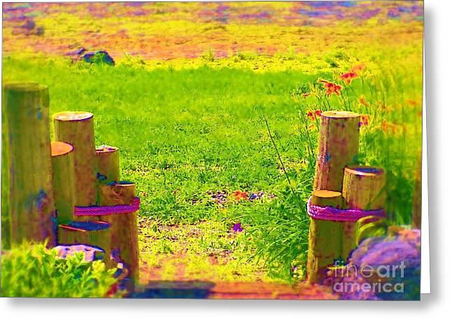 My Garden Dream Greeting Card by Deborah Selib-Haig DMacq