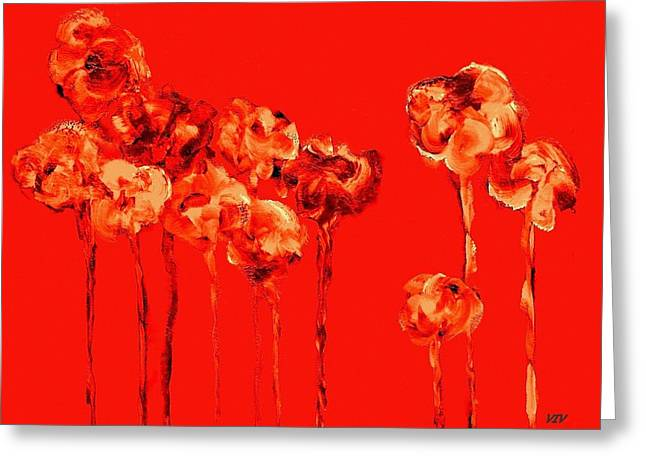 My Garden - Red Greeting Card