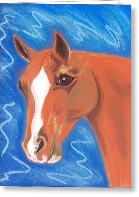 Dressage Pastels Greeting Cards - My Girl Greeting Card by Christine Crosby