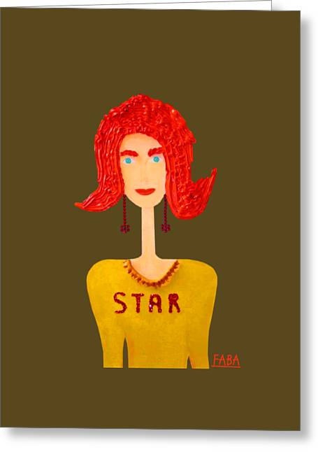 My Girlfriend A Star Greeting Card by Faba Fouret