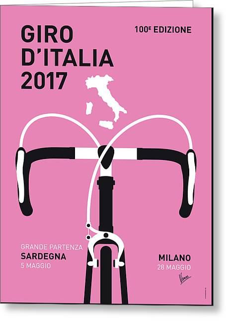 My Giro Ditalia Minimal Poster 2017 Greeting Card by Chungkong Art