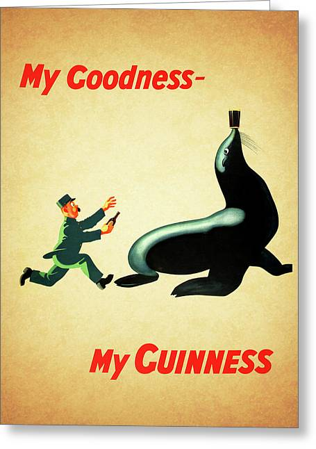 My Goodness My Guinness 1 Greeting Card by Mark Rogan