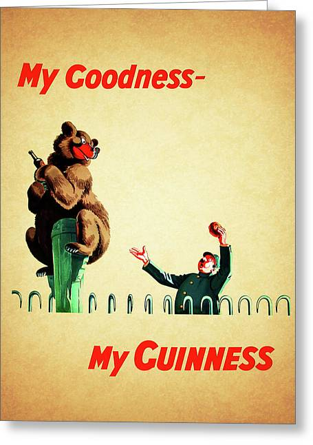 My Goodness My Guinness 2 Greeting Card by Mark Rogan