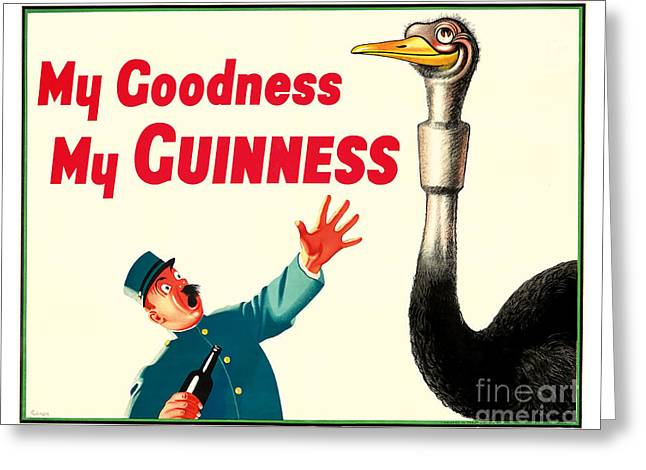My Goodness My Guinness Greeting Card by Jon Neidert