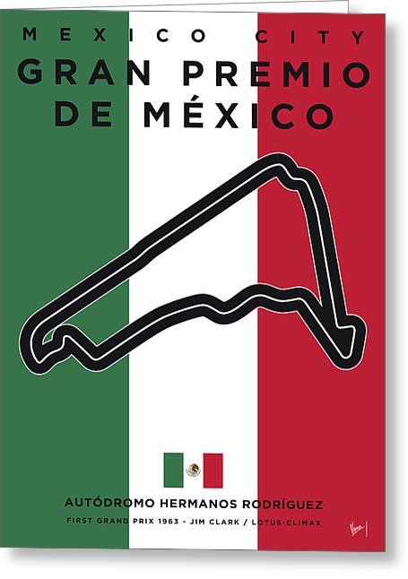 My Gran Premio De Mexico Minimal Poster Greeting Card