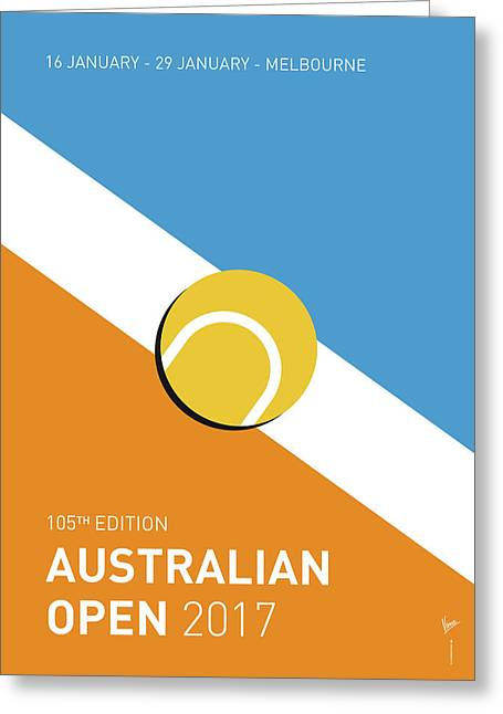 My Grand Slam 01 Australian Open 2017 Minimal Poster Greeting Card