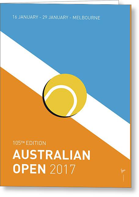 My Grand Slam 01 Australian Open 2017 Minimal Poster Greeting Card by Chungkong Art
