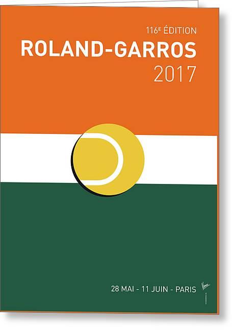 My Grand Slam 02 Rolandgarros 2017 Minimal Poster Greeting Card