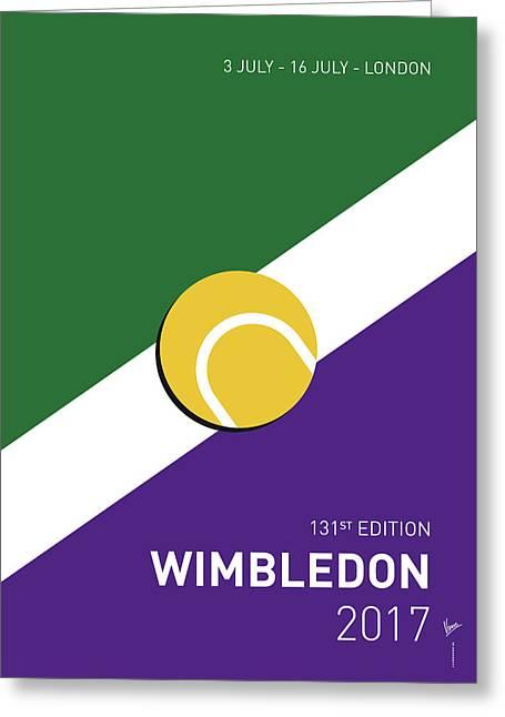 My Grand Slam 03 Wimbeldon Open 2017 Minimal Poster Greeting Card