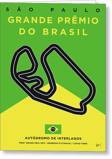 My Grande Premio Do Brasil Minimal Poster Greeting Card