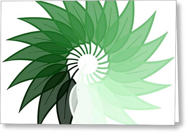 My Green Leaf Greeting Card by Liesl Marelli
