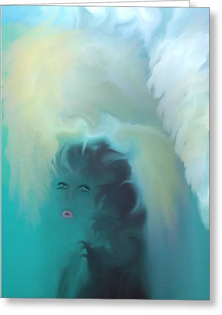 Digital Art Greeting Cards - My Guardian Angel Greeting Card by Sherri  Of Palm Springs