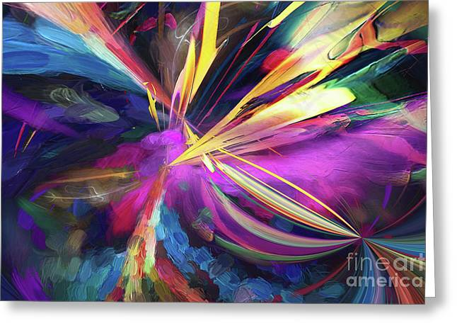 Greeting Card featuring the digital art My Happy Place by Margie Chapman