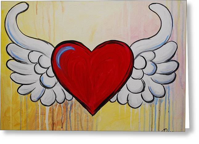 My Heart Has Wings Greeting Card
