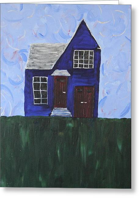 My House Greeting Card by Tracy Fetter