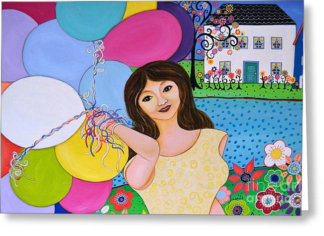 My Inflated Passion Greeting Card by Pristine Cartera Turkus