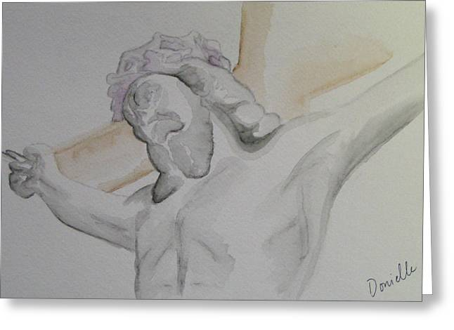 My Jesus Greeting Card by Donielle Boal