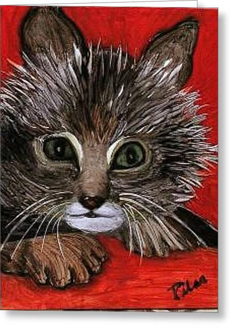 My Kittie Cat Greeting Card by Pilar  Martinez-Byrne