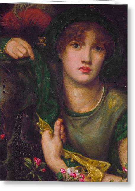 My Lady Greensleeves Greeting Card by Dante Gabriel Rossetti