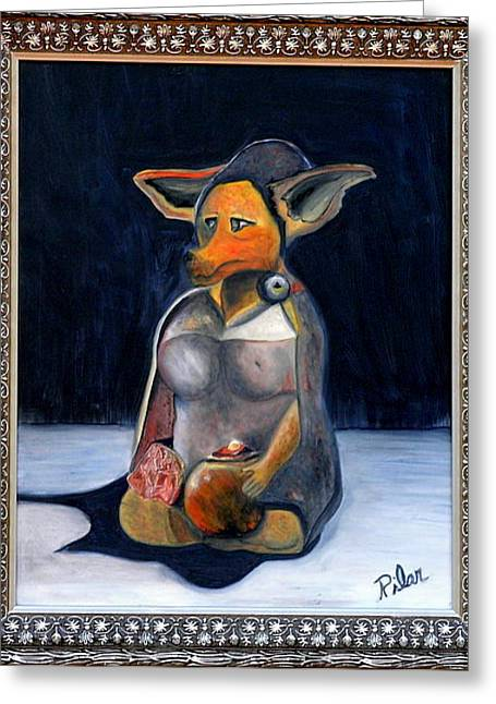 My Life As A Dog Greeting Card by Pilar  Martinez-Byrne
