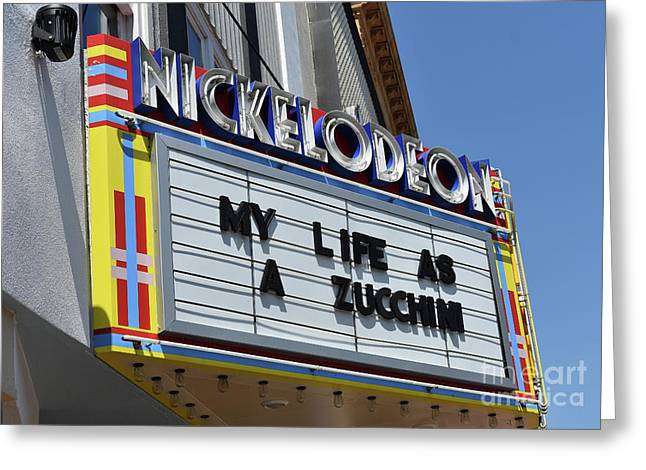 My Life As A  Zucchini Greeting Card by Skip Willits