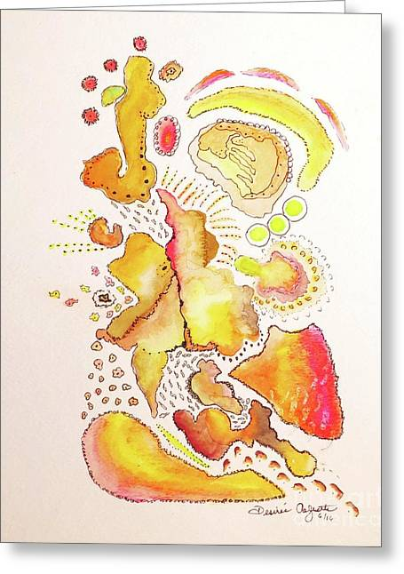 My Life In Abstract Greeting Card by Desiree Paquette