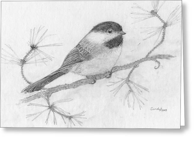 My Little Chickadee Greeting Card by Cynthia  Lanka