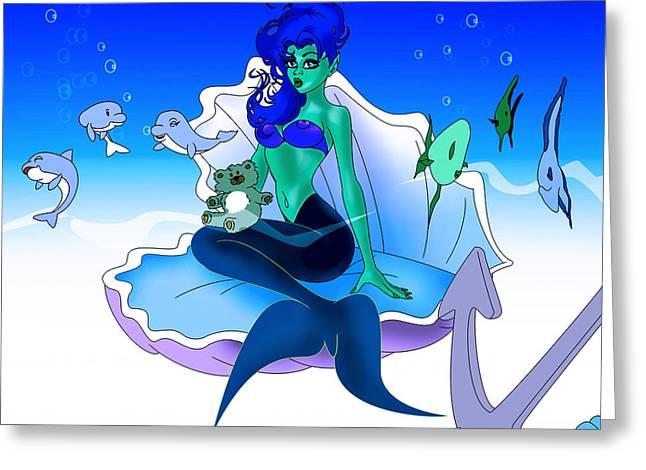 My Little Mermaid Greeting Card by Lynn Rider