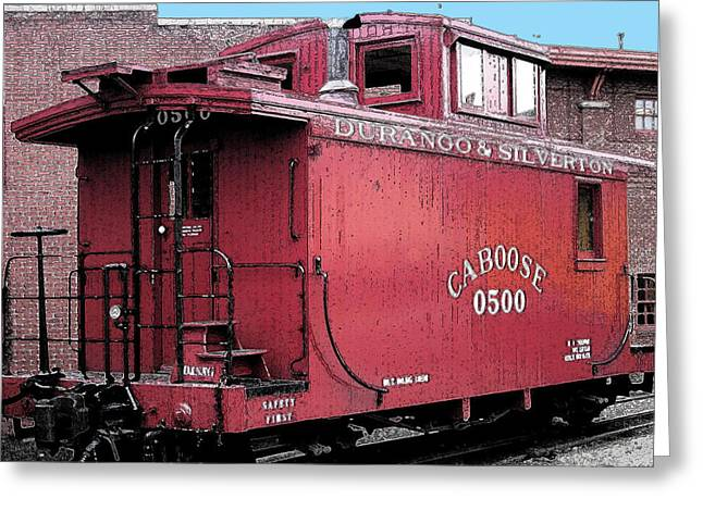 My Little Red Caboose Greeting Card