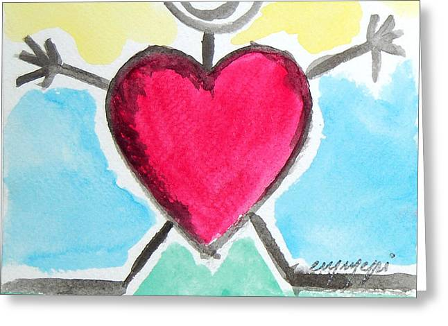 My Love For You Greeting Card by Monica Palermo