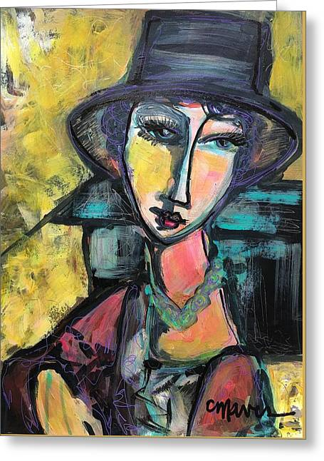 Greeting Card featuring the painting My Love Lies With Florence by Laurie Maves ART