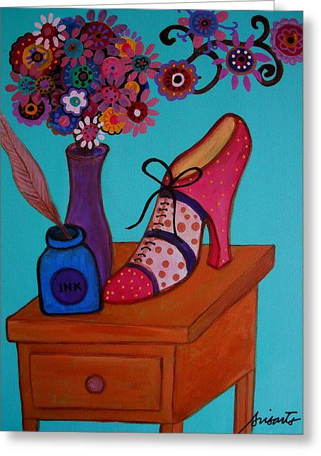 Greeting Card featuring the painting My Love by Pristine Cartera Turkus