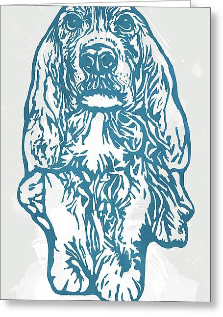 My Lovely Baby - Dog Pop Art Poster Greeting Card