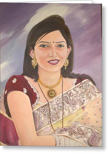 My Lovely Daughter Greeting Card by Devendra Jawaji