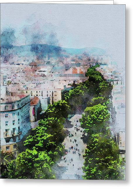 My Lovely Town Barcelona Greeting Card
