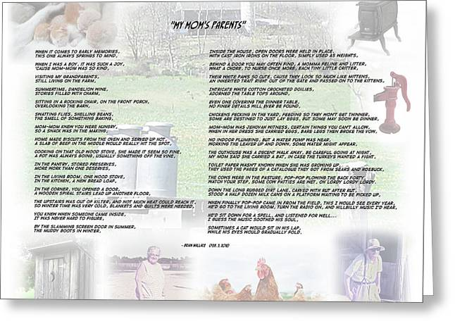 My Mom's Parents - Poem Greeting Card