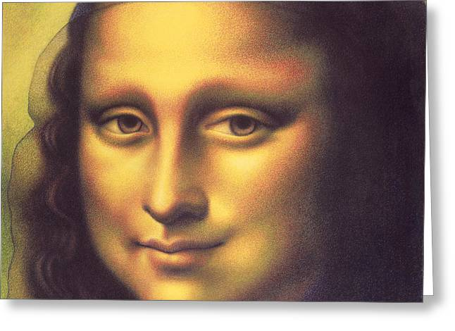 My Mona Lisa Greeting Card by Donna Basile