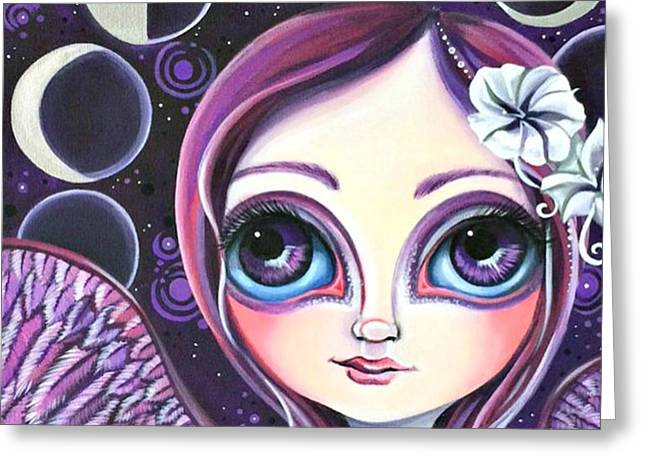 My moon Phase Angel Original Greeting Card