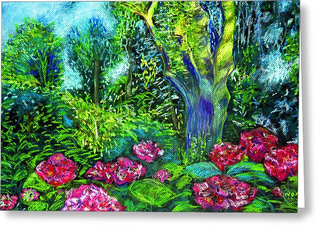 My Mother's Garden Greeting Card by Aymeric NOA