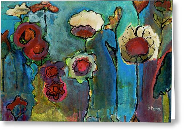 My Mother's Garden Greeting Card by Susan Stone
