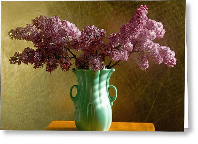 My Mother's Lilacs Greeting Card by Wendy Blomseth