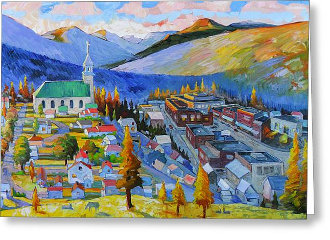 Gloaming Paintings Greeting Cards - My Mountain Home Greeting Card by Gregg Caudell
