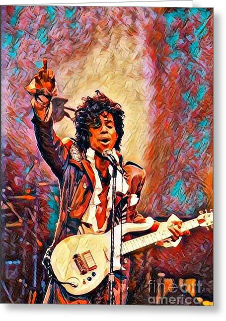 My Name Is    -  Prince Greeting Card