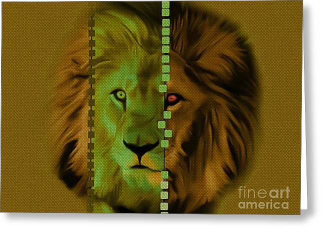 My Name Is Cecil Lion King Of Simbawe Greeting Card by Felix Von Altersheim
