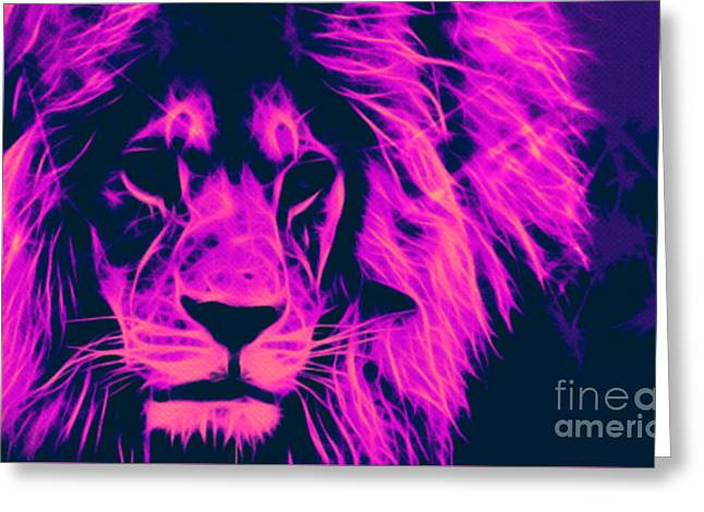 My Name Is Cecil Lion King Of Simbawe Pop Art Greeting Card by Felix Von Altersheim